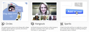 Google+, Circles, Hangouts and Sparks