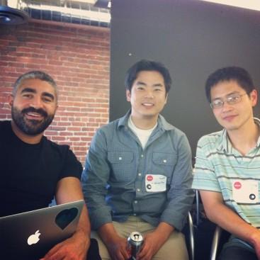 Team Edmunds (left to right): Ismail Elshareef, Daniel Kang and Joseph I